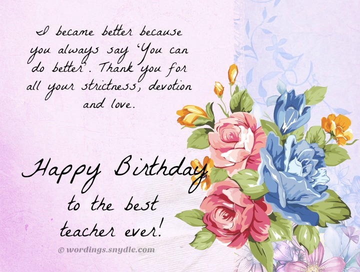 Birthday wishes for teacher wordings and messages best birthday wishes messages for teacher m4hsunfo