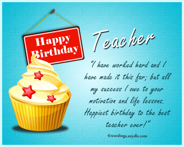 Birthday Messages for Teacher