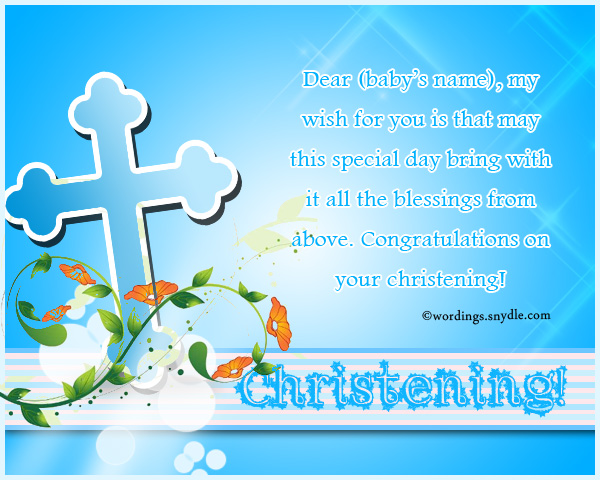 Christening messages wordings and messages christening messages m4hsunfo