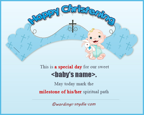 Christening messages wordings and messages christening messages to parents m4hsunfo