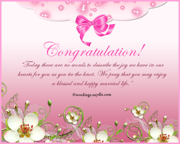 Wedding Congratulation Messages Wordings And Messages