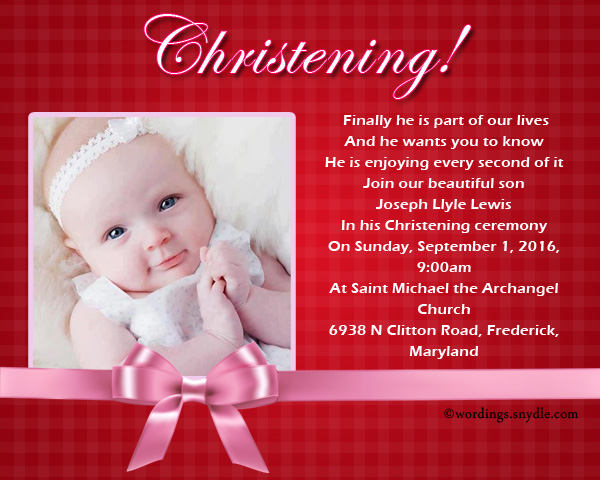 Christening invitation wording wordings and messages christening invitation wordings stopboris Images