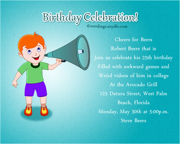 Funny Birthday Party Invitation Wording Wordings and Messages – 30th Birthday Party Invitation Wording Samples
