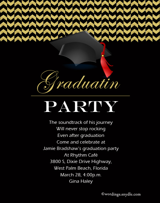 33707bf1ae9 Graduation Party Invitation Wording - Wordings and Messages