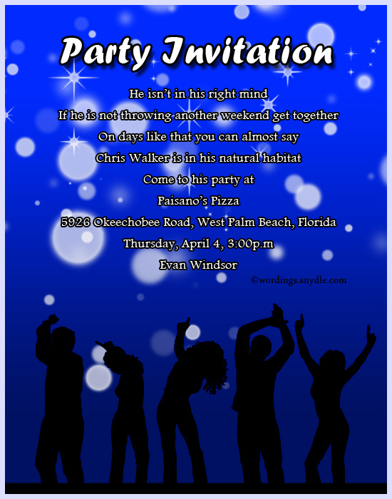 Adult Party Invitation Wording Wordings and Messages – Get Together Party Invitation