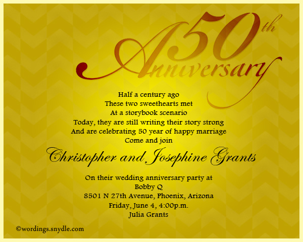 50th wedding anniversary party invitation wording wordings and 50th wedding anniversary invitation wordings sample stopboris Gallery