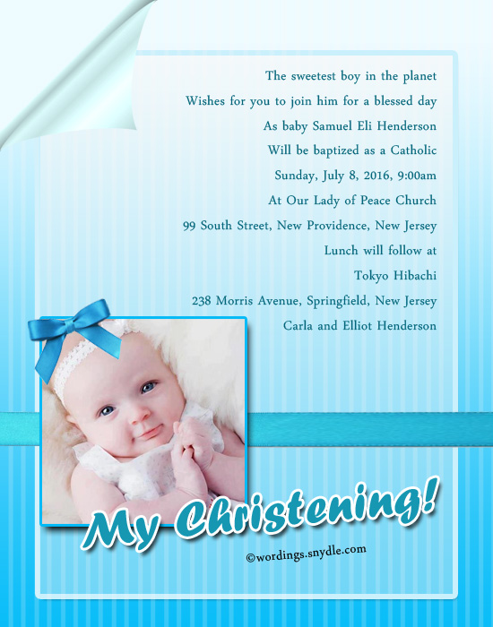 baptism invitation wording samples  u2013 wordings and messages
