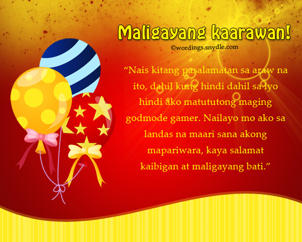 birthday wishes messages in tagalog