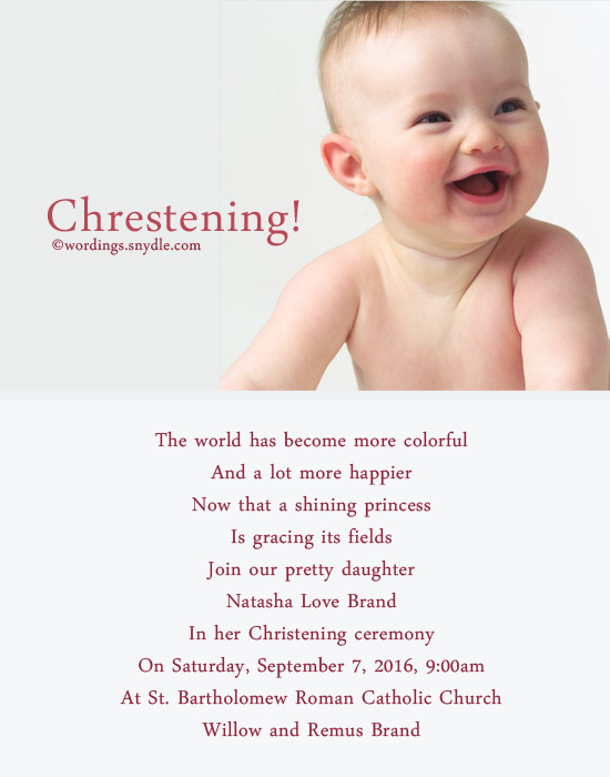 Christening invitation wording wordings and messages christening invitation wording sample 7 christening invitation greetings wordings stopboris Images