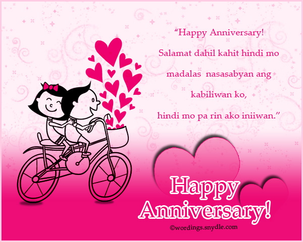 Anniversary archives wordings and messages tagalog happy anniversary messages and wishes m4hsunfo