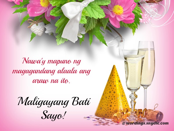 Happy Birthday Messages in Tagalog - Wordings and Messages