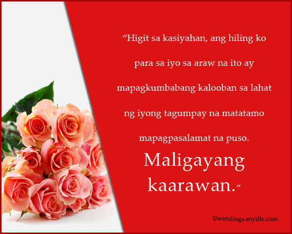 Happy birthday messages in tagalog wordings and messages tagalog birthday wishes m4hsunfo Gallery