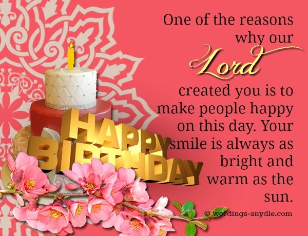 Christian Birthday Wordings and Messages Wordings and Messages – Christian Birthday Greetings