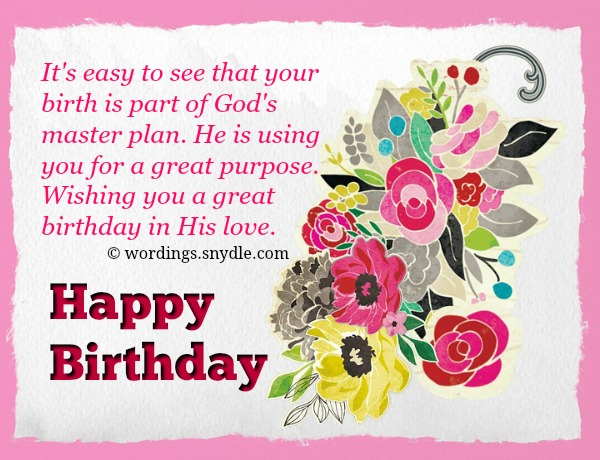 Christian birthday wordings and messages wordings and messages be thankful for the coming of this special day you are that special to the lord that he wants you to be the happiest person in the world on this day m4hsunfo