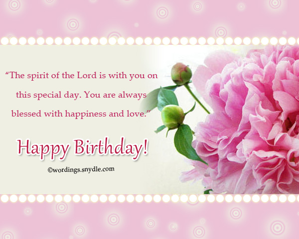 Christian birthday wordings and messages wordings and messages birthday blessings from the bible religious greetings messages m4hsunfo