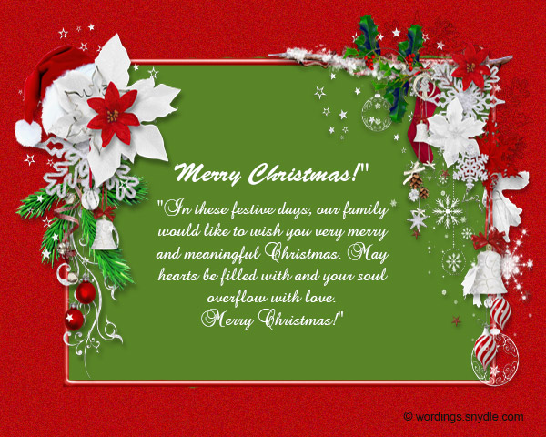 sample christmas wishes
