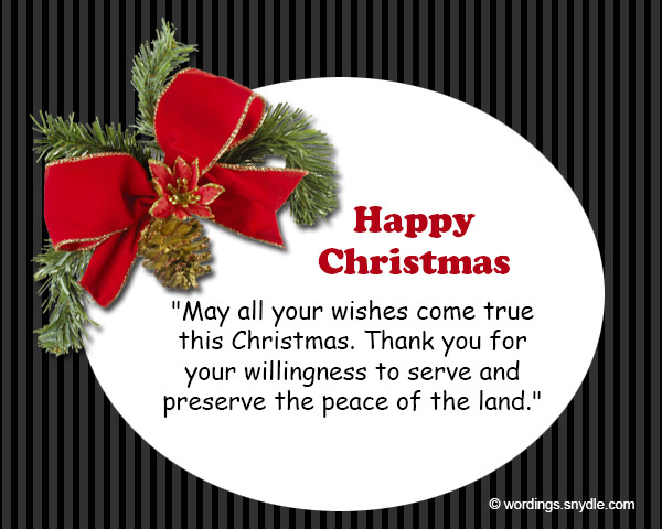 Merry christmas wishes for soldiers wordings and messages christmas greetings for soldier 4 m4hsunfo