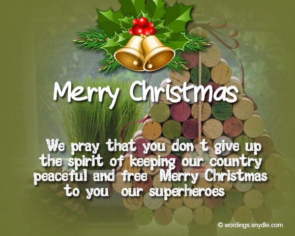 Merry christmas wishes for soldiers wordings and messages christmas greetings for soldier 5 m4hsunfo