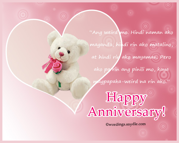 anniversary messages for boyfriend tagalog tagalog happy anniversary messages and wishes wordings 13751