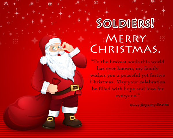 soldiers merry christmas
