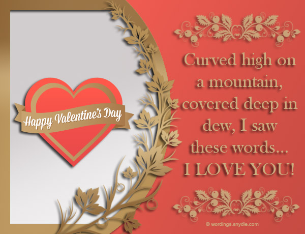 Valentines day messages for boyfriend wordings and messages can still send your warmest valentines day greetings to him thru various means like sms email or even thru social media here are some sweet valentines m4hsunfo Images