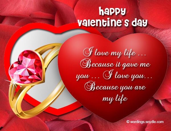 Valentines Day Messages for Wife Wordings and Messages – Valentine Card Love Messages
