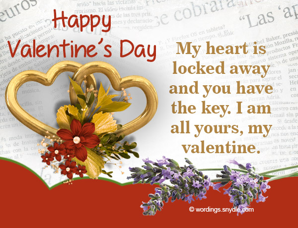 Valentine wordings for husband