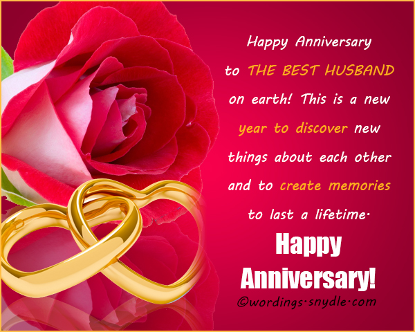 Wedding Anniversary Messages To Husband