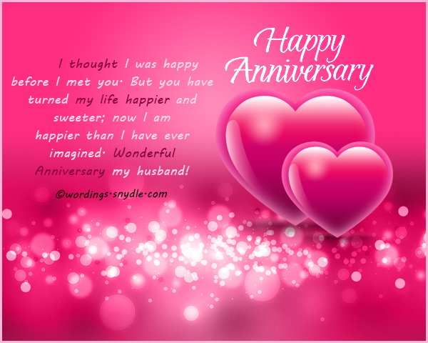 wedding anniversary messages for husband wordings and messages