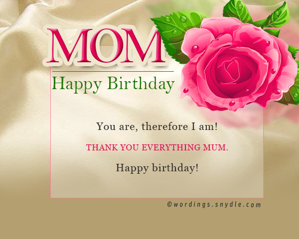 Birthday wishes for mother m4hsunfo