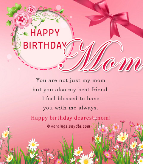 Birthday wishes for mother wordings and messages on your birthday today i just want to pray to god to bless you with long and healthy life happy birthday mom m4hsunfo