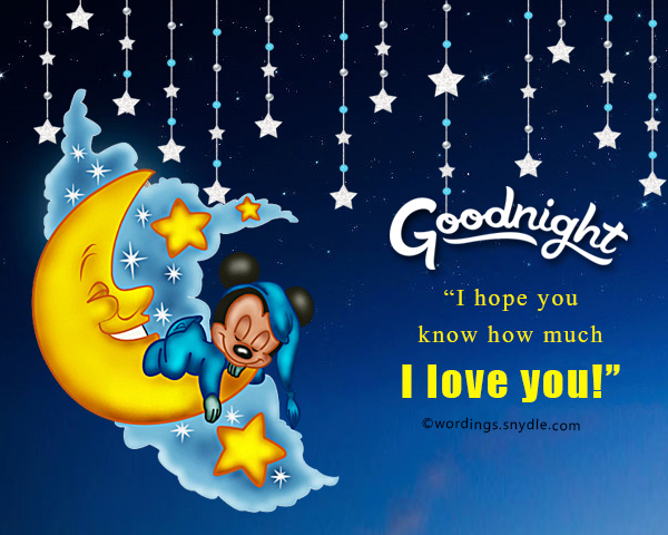 Something sweet to say goodnight - Wordings and Messages