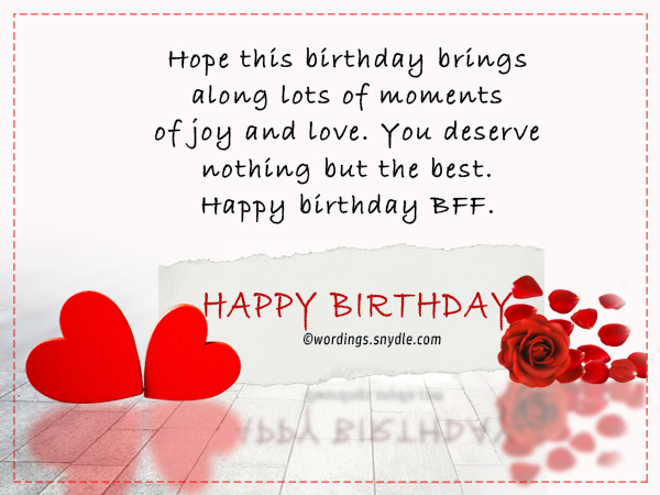 Birthday Wishes For Best Friend Forever Wordings And Messages