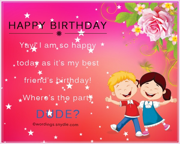 Birthday wishes for best friend male wordings and messages m4hsunfo