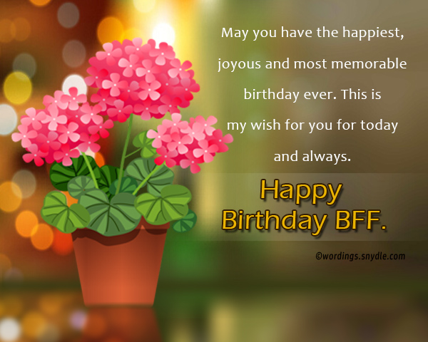 Wondrous Birthday Wishes For Best Friend Forever Wordings And Messages Funny Birthday Cards Online Elaedamsfinfo