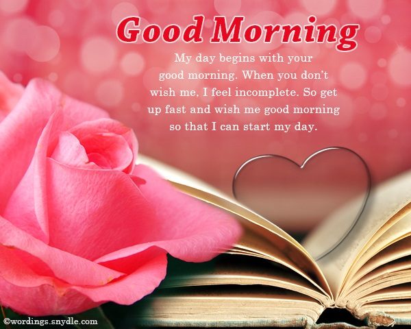 Good Morning Wishes For Lover Wordings And Messages